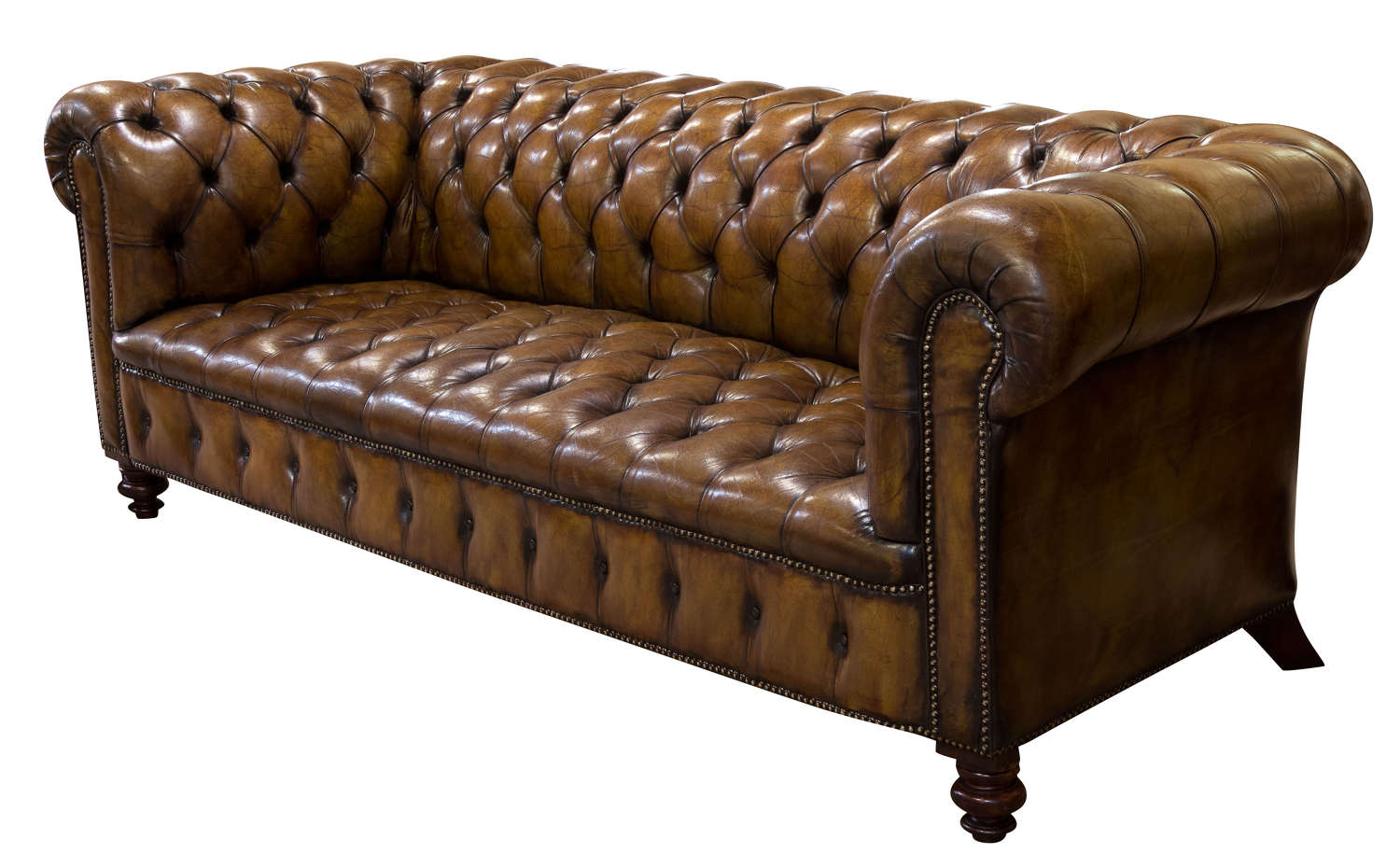 Vintage 3 seater chesterfield