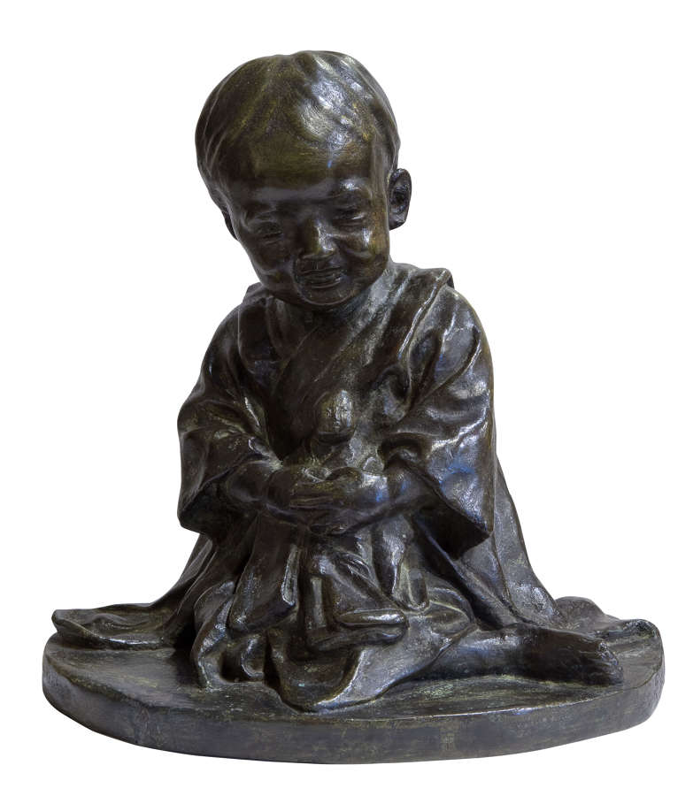 Bronze of a Chinese Child c1900