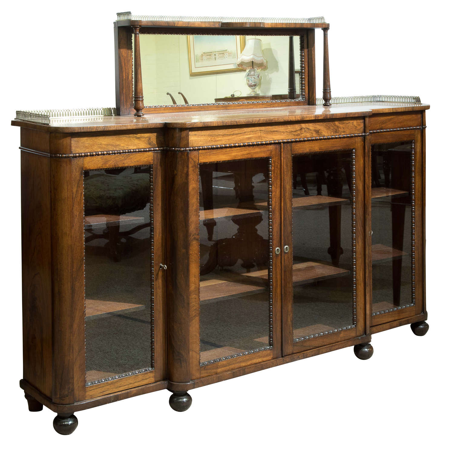 William IV Rosewood Breakfront Cabinet