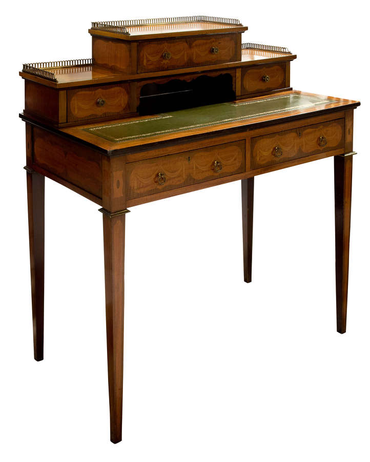 19thc Satinwood Ladies Desk