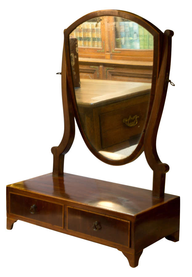 Small Regency Period Dressing Table Mirror