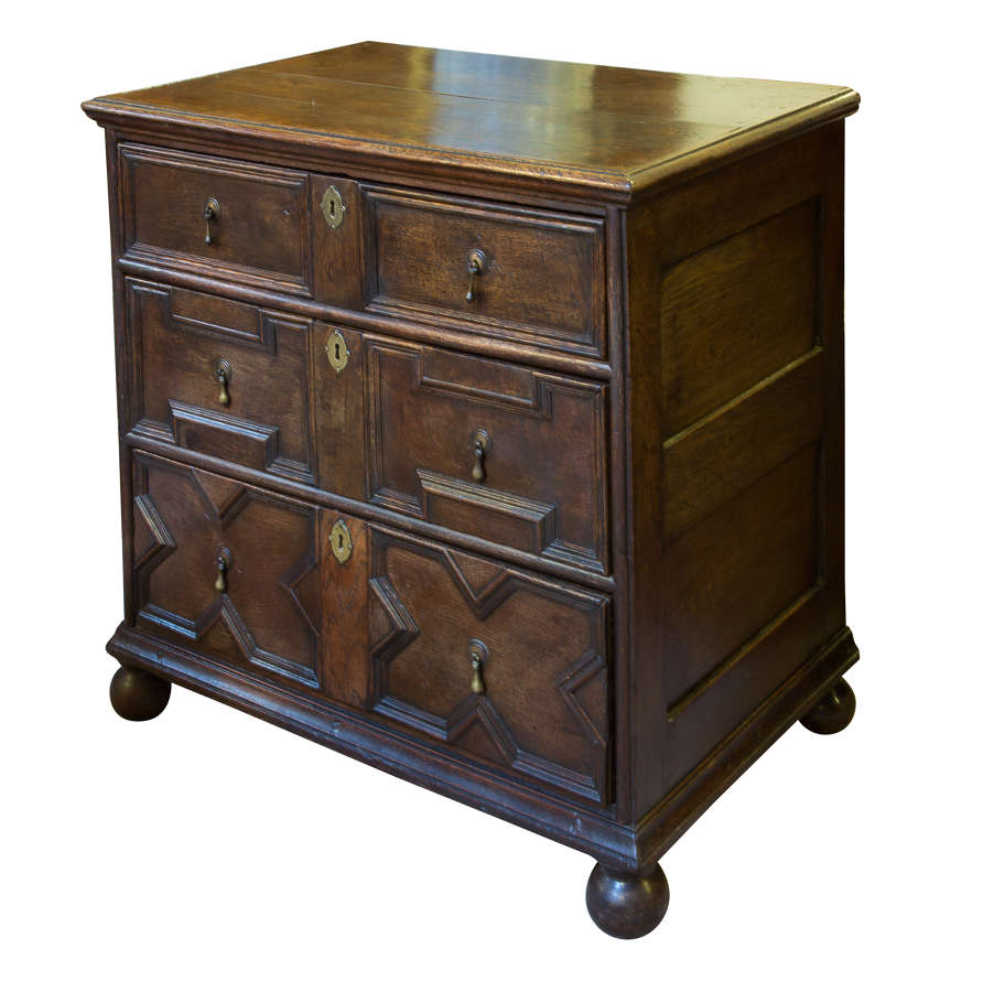 A William & Mary Small Oak Chest of Drawers