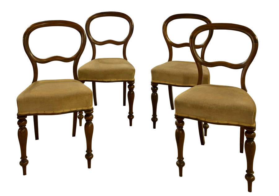 Set of 4 Fine Quality Rosewood Dining Chairs