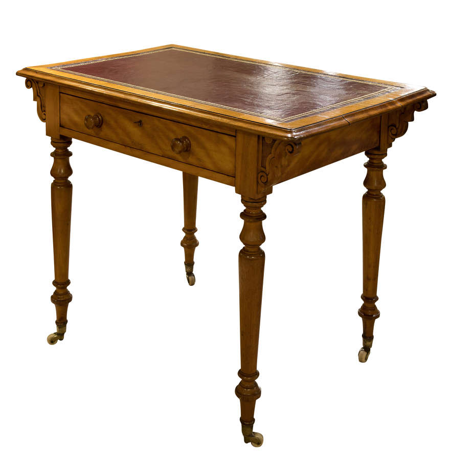 Victorian Satinwood Writing Table