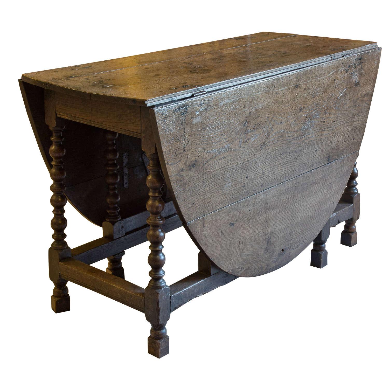Late 17thc Oak Gateleg Table