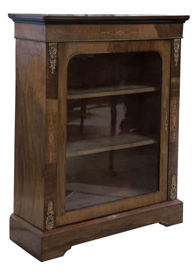 Walnut Pier Cabinet with Ormolu
