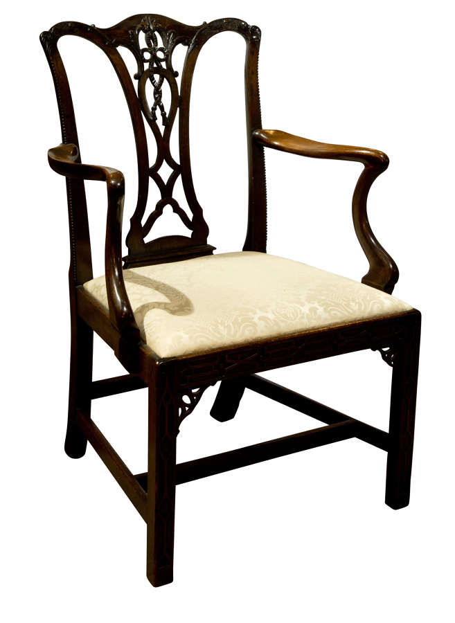 Mahogany Chippendale Style Carver Chair