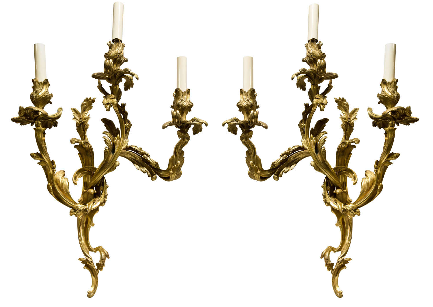Pair of French Ormolu Wall Sconces