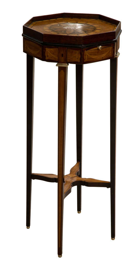 Late C19 Marquetry Urn Stand