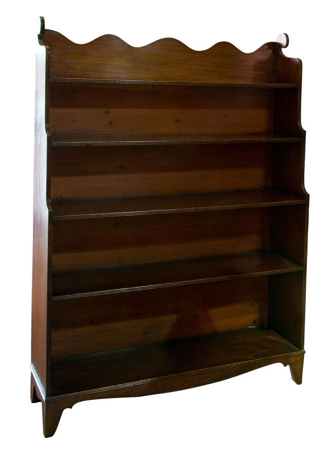 19thc Mahogany Waterfall Bookcase