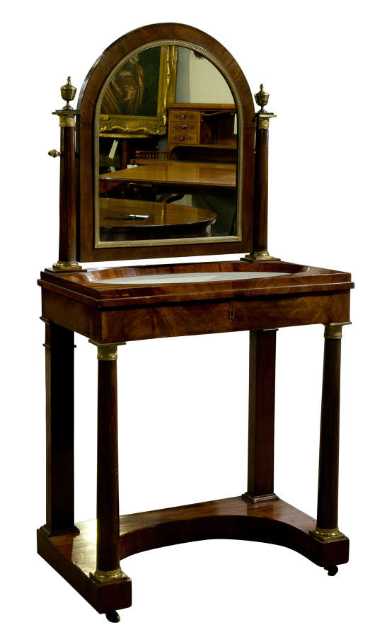 French Empire Mahogany Dressing Table