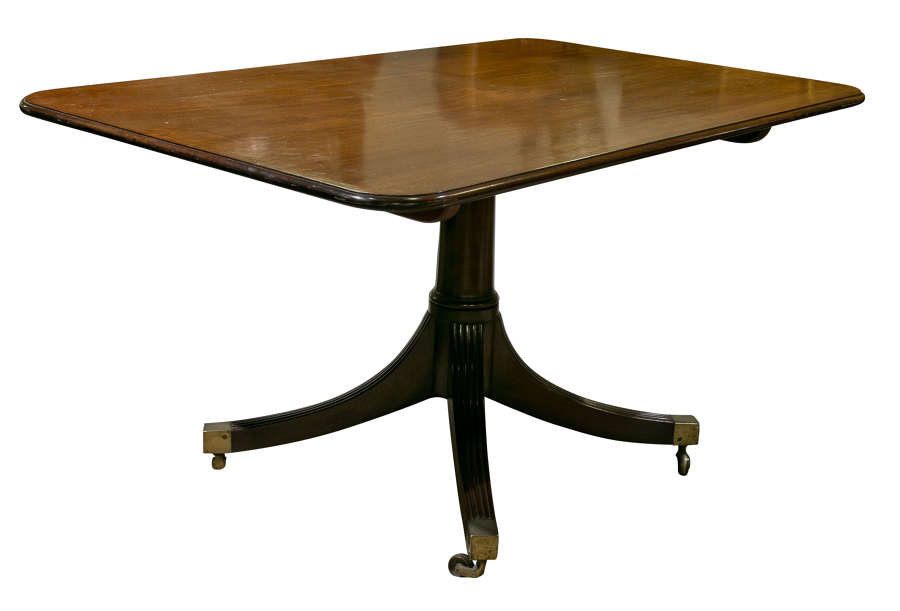Regency Mahogany Rectangular Breakfast Table