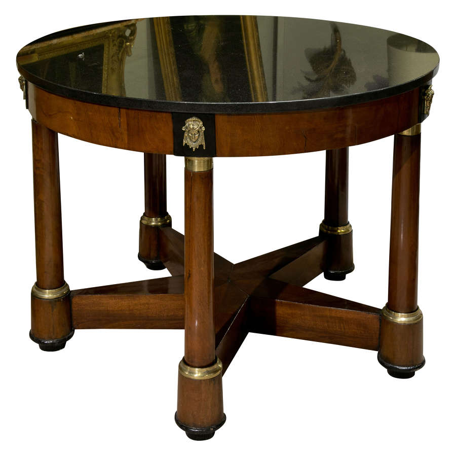 Circular Mahogany Empire Gueridon Table
