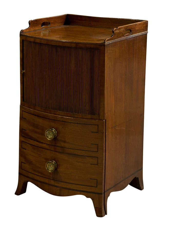 George III Mahogany Bow Fronted Commode