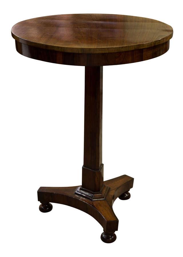Circular Rosewood Tilt-Top Table