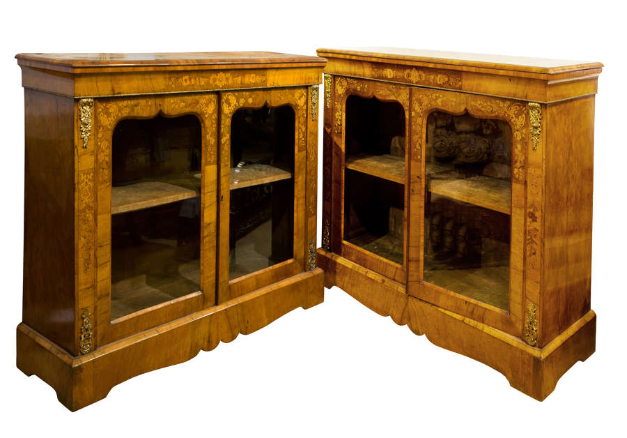 A superb pair of English Pier Cabinets