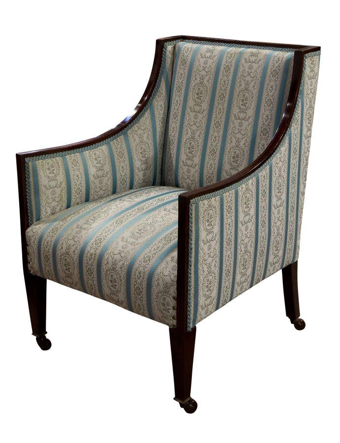 Mahogany Framed Easy chair c1910