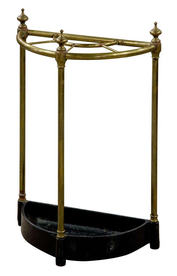 Brass Demi-Lune Umbrella Stand