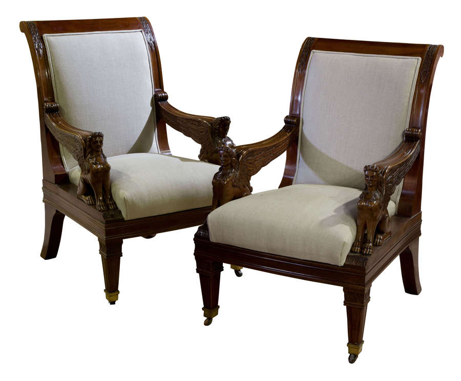 Pair of Library Chairs 19thc