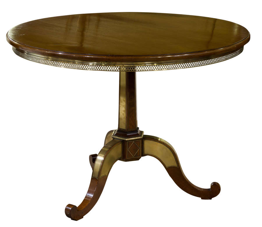 Occasional Table with brass gallery c1830