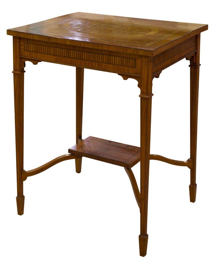 Rectangular Satinwood Centre Table c1900