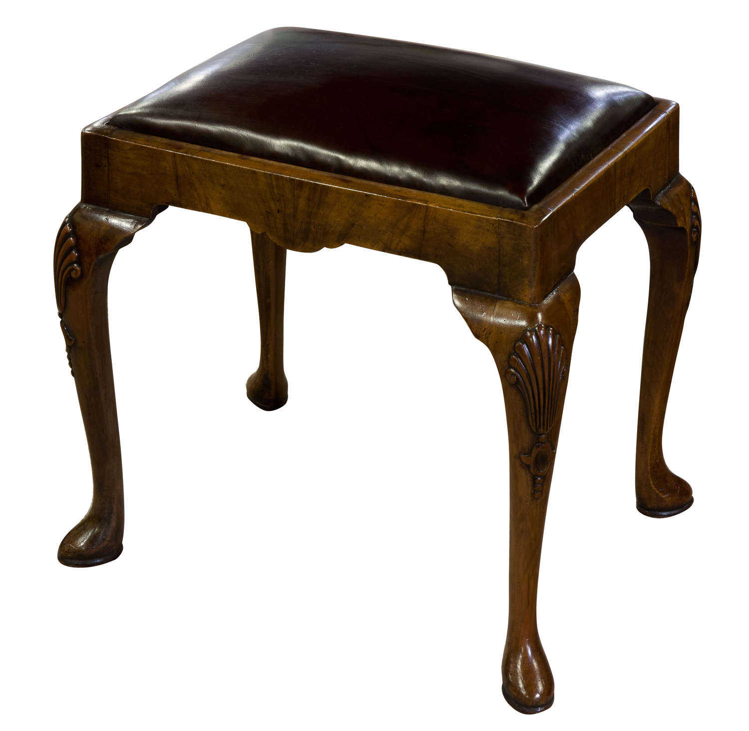 Walnut Queen Anne Style Stool c1910