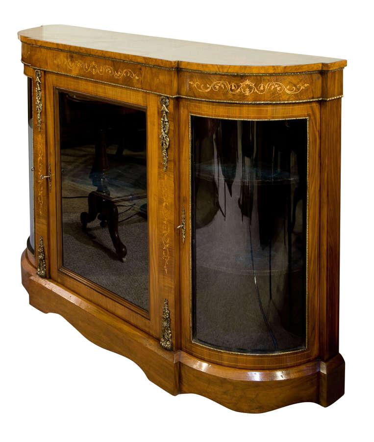 Victorian Burr Walnut Credenza c1870