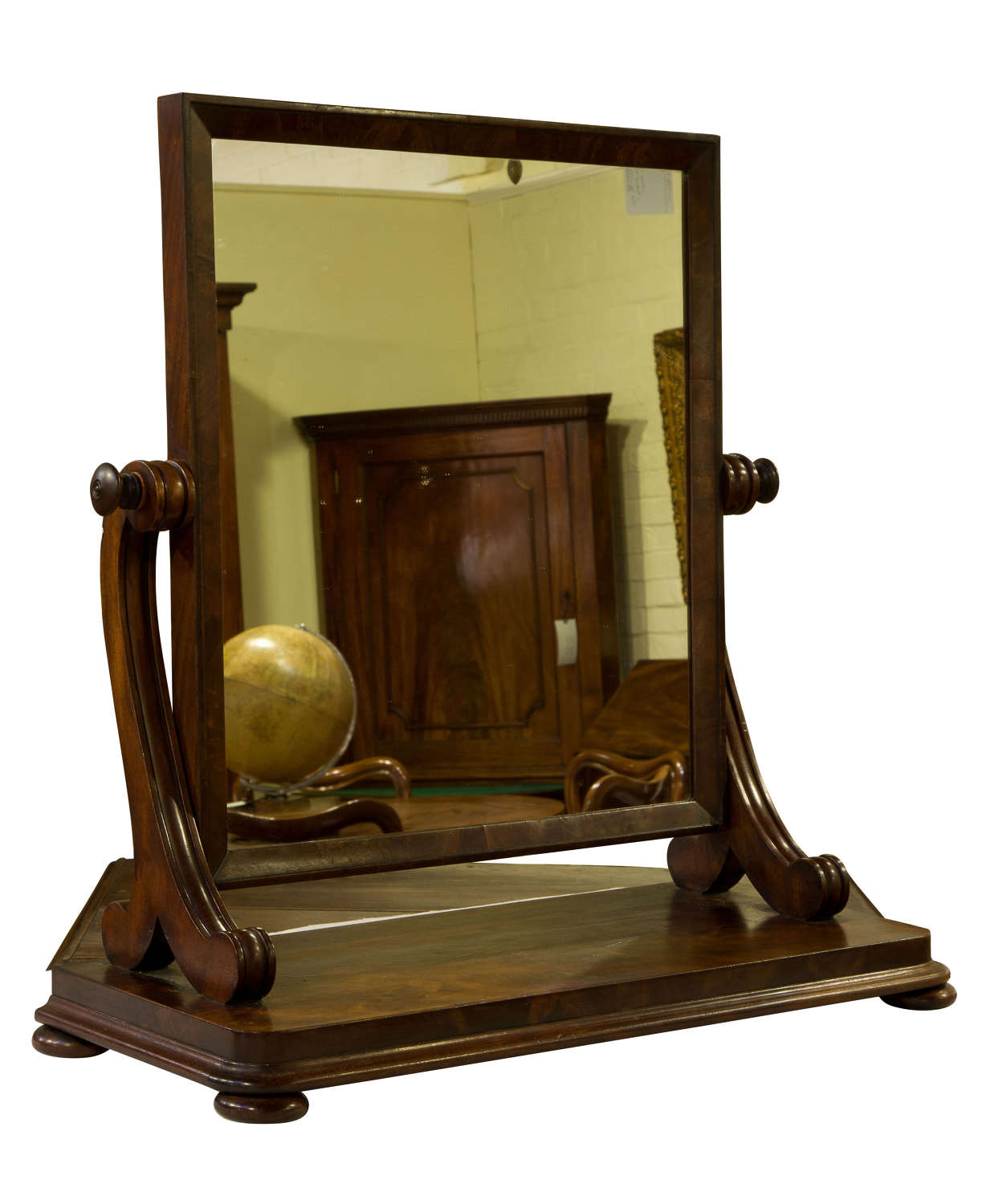 William IV Mahogany Dressing Table Mirror c1830