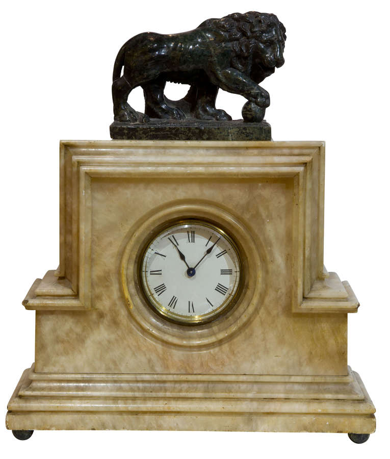 Art Deco Clock with Borghese Lion