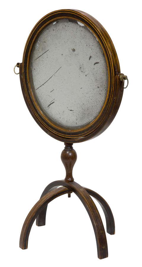 Rare Georgian Travelling Mirror