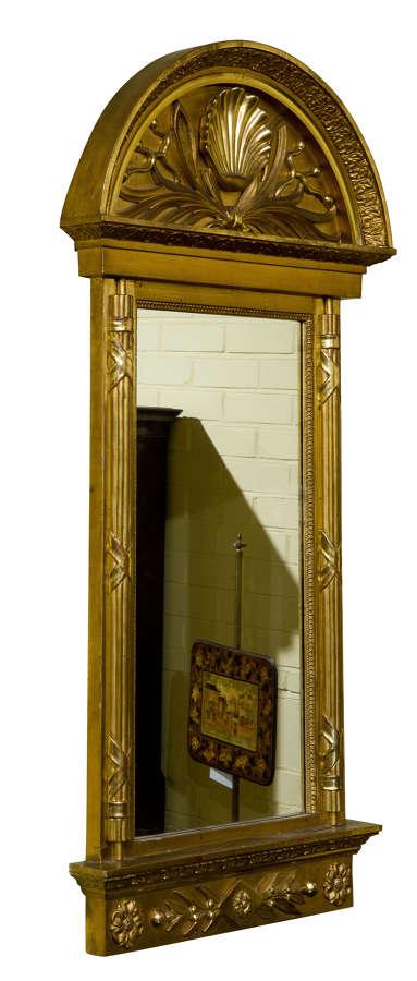 Scandinavian Carved Giltwood Mirror