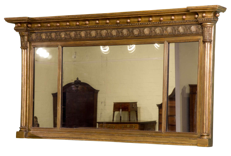Regency Gilt Framed over mantel mirror