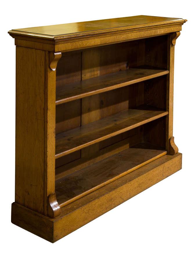 19th Century Golden Oak Open Bookshelves