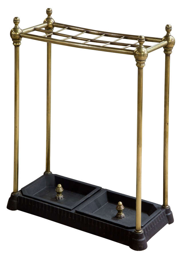 Victorian Brass Stand with Drip Pans