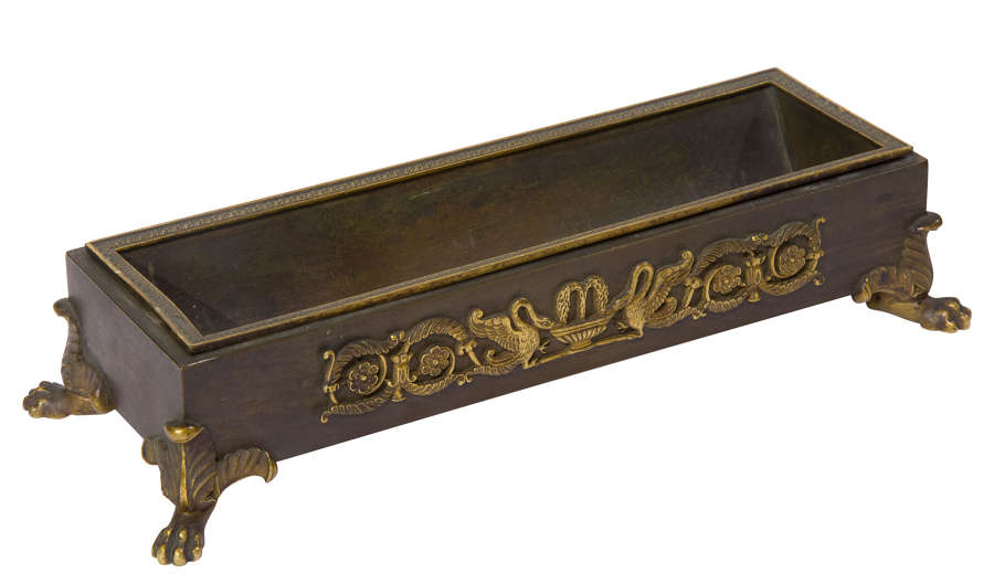 French Bronze Pen Tray