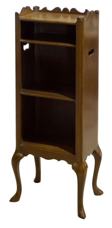Late 19thc Dutch Mahogany Dwarf Nightstand/Bookshelf