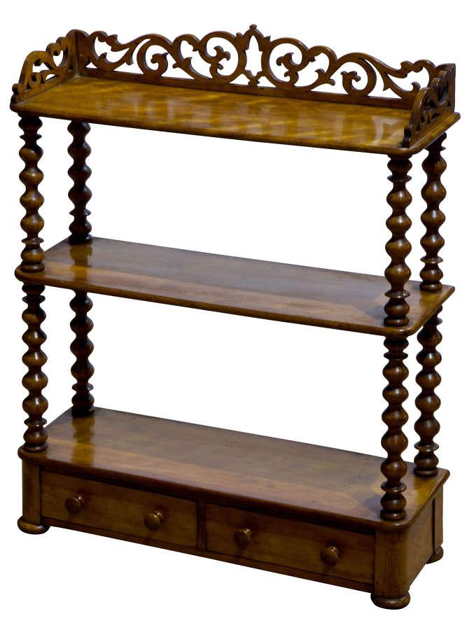 A Fine Set of Satin Birch Shelves