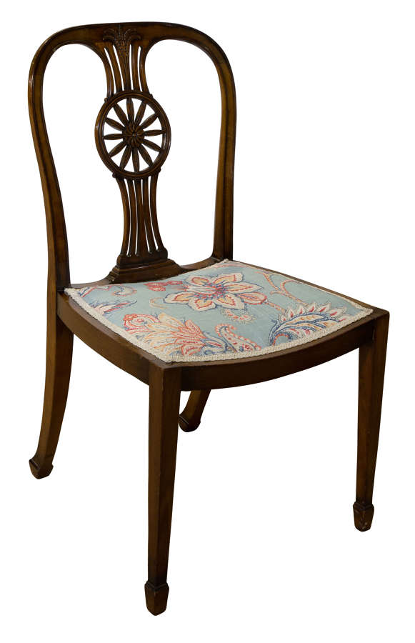 Early 20th Century Mahogany Chair Stamped with Waring & Gillow