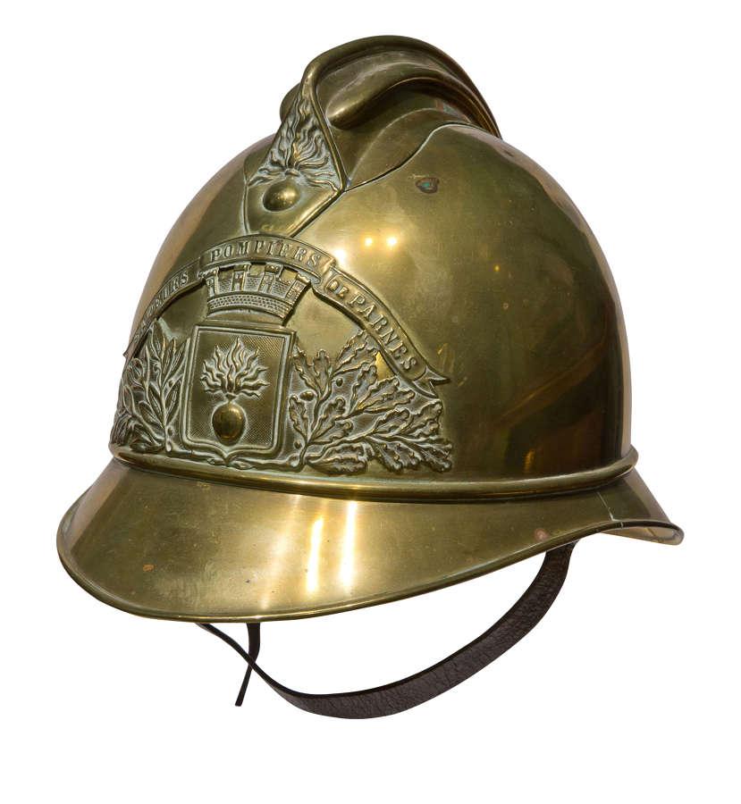 A Brass Fireman's Helmet