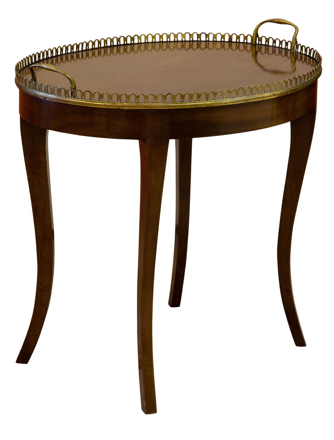 An Oval Mahogany Occasional Table