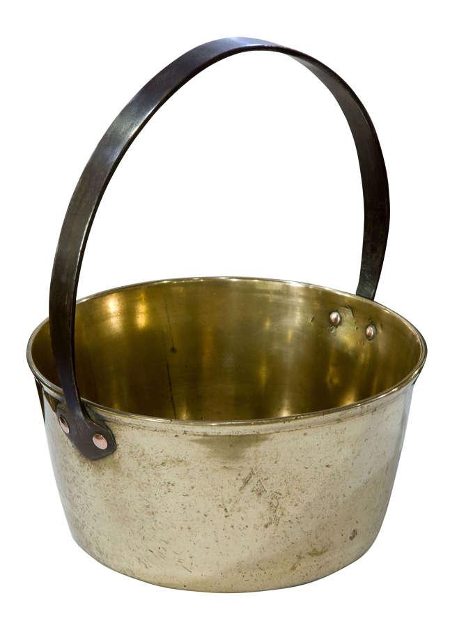19th Century Brass Jam Pan