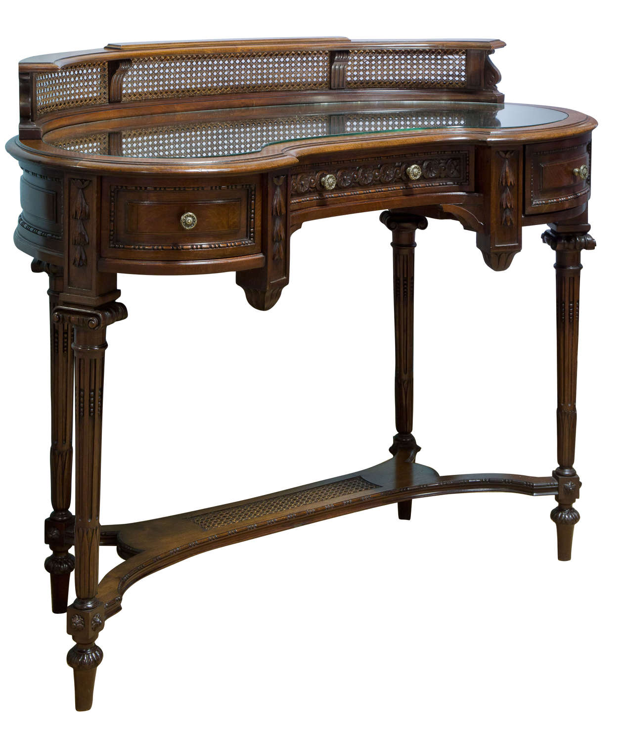 Fine Quality French Kidney Shape Dressing Table