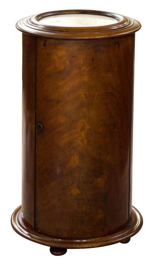 Flame Mahogany Circular Cabinet c1850