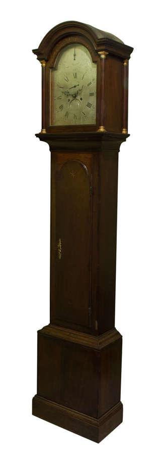 A good silvered arch dial 8 day longcase clock circa 1790