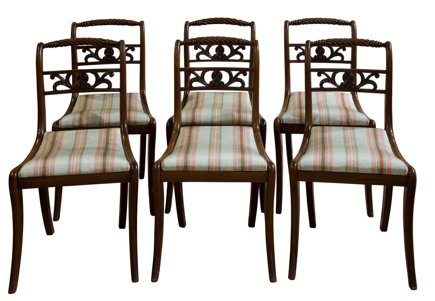 Set of 6 Regency dining chairs c1820