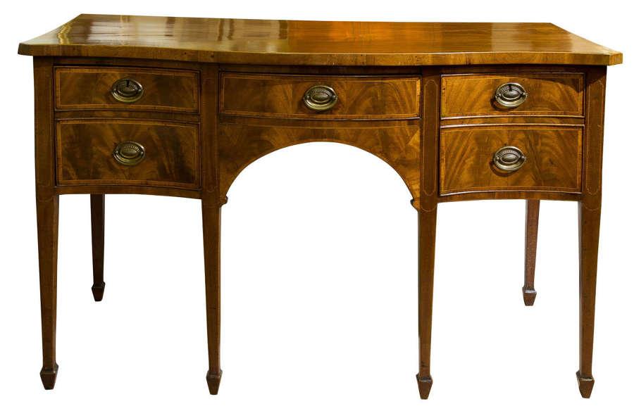 A good George III mahogany sideboard