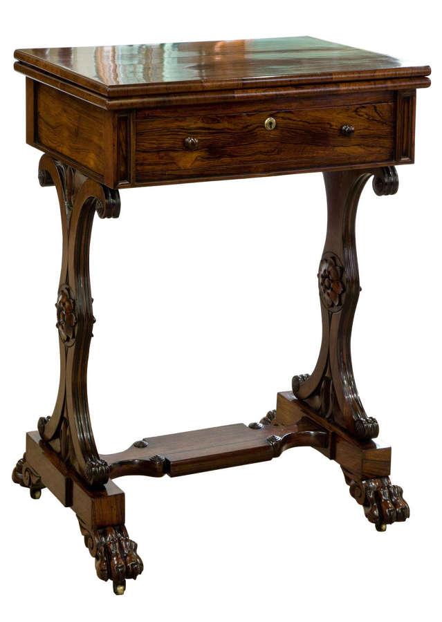 Regency Rosewood games table c1820