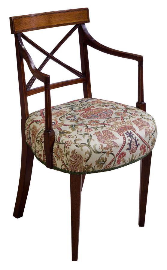 Regency Sheraton mahogany chair
