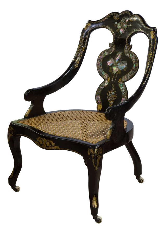 Victorian papier mache chair