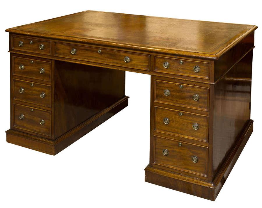 19thc mahogany partners desk